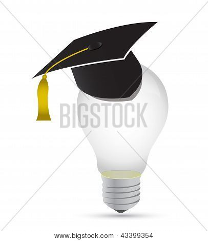 Light Bulb Education Graduation Concept