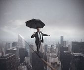 stock photo of hazard  - Concept of risks and challenges of business life - JPG