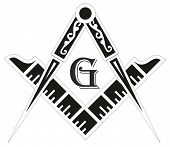 stock photo of occult  - Freemasonry emblem  - JPG