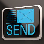 Send Envelope Shows Email Message Inbox Online