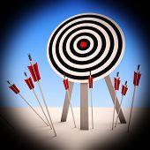 Arrows On Floor Shows Ineffective Targeting poster
