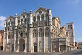 foto of ferrara  - romanesque cathedral of Ferrara  - JPG