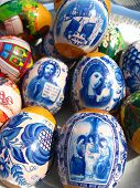 foto of deacon  - Easter eggs with Jesus Christ - JPG