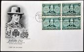postcard printed in USA shows Juliette Gordon Low Founder of the Girls Scouts of the USA