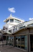 Gustaf III Airport terminal and traffic control tower at St. Barths