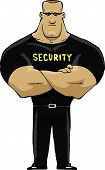 stock photo of safeguard  - Security guard on a white background vector illustration - JPG