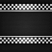 stock photo of orifice  - Metallic perforated sheet gray - JPG