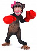 stock photo of hooker  - Fun monkey - JPG