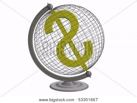 Globe With Dollar Sign