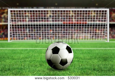 Football - Penalty In The Stadium