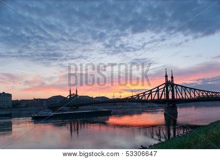 The Silhouette Of The Bridge