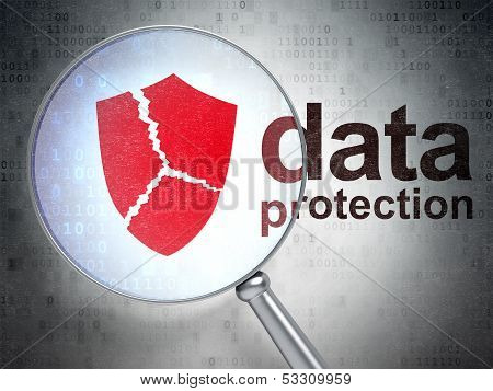Safety concept: Broken Shield and Data Protection optical glass