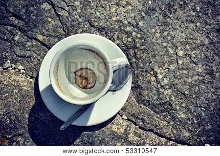 Topview Of Empty Coffee Cup
