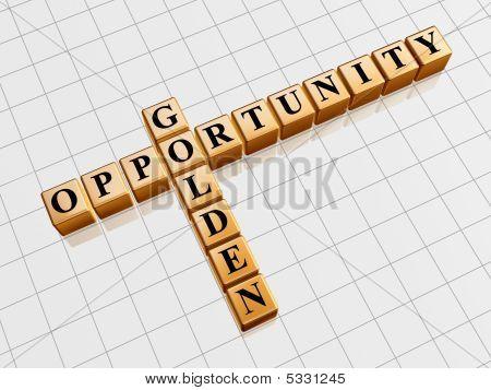 Golden Opportunity Like Crossword