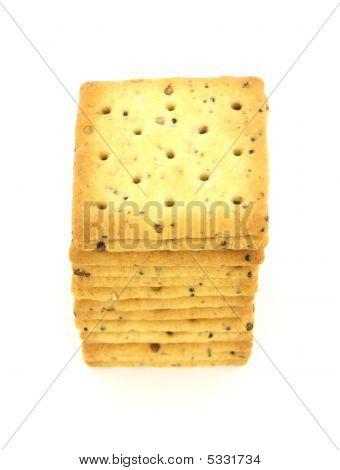 Square Whole Grain Cracker Stack