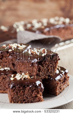 Gingerbread Cake With Chocolate And Hazelnuts