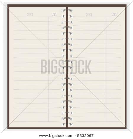 Copybook. Vector Illustration