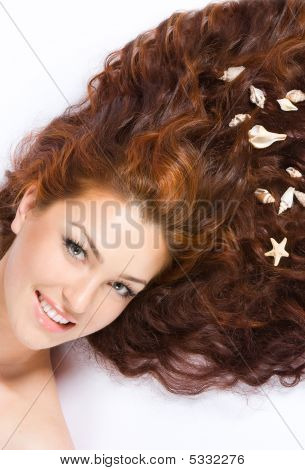With Shells In Hair