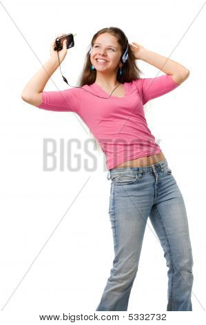 Happy Dancing Woman