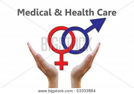 Sex Symbol for medical and healthcare concept