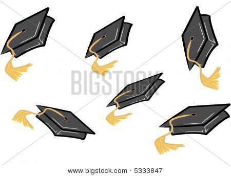 Throwing Graduation Caps.