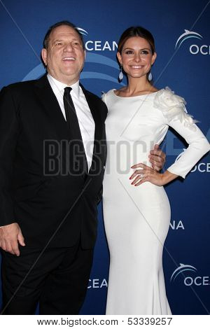 LOS ANGELES - OCT 30:  Harvey Weinstein, Maria Menounos at the Oceana's Partners Awards Gala 2013 at Beverly Wilshire Hotel on October 30, 2013 in Beverly Hills, CA