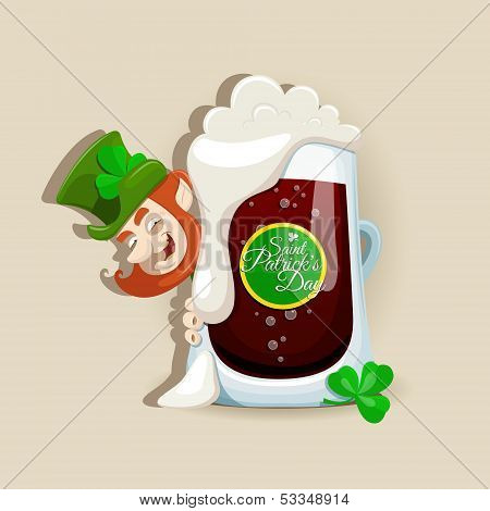 Saint Patrick`s Day Dark Beer