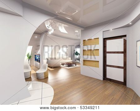 modern penthouse  interior design