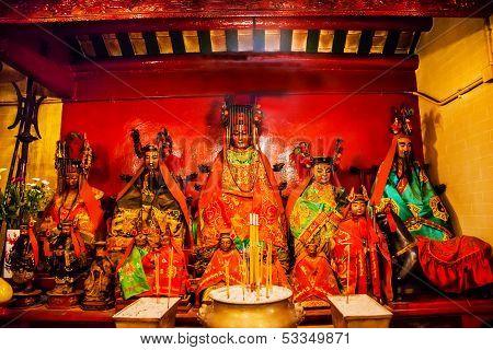Chinese Gods Man Mo Temple  Hong Kong