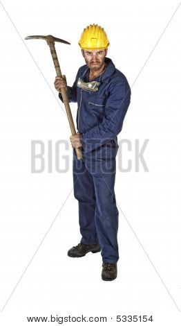Manual Worker Isolated On White