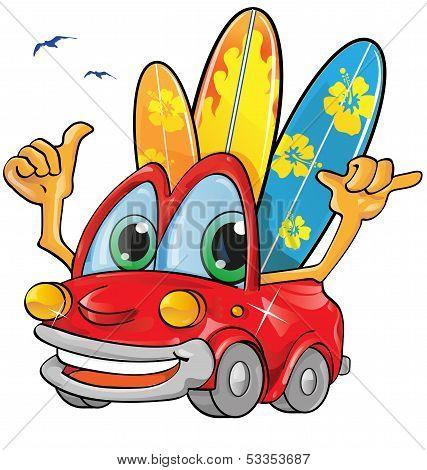Travel Car Cartoon