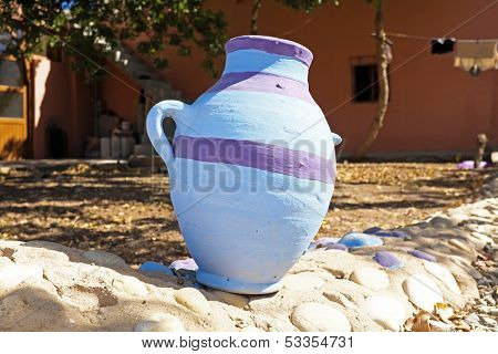 Traditonal vase,  product of the Moroccan potter's factories