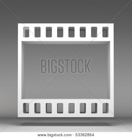 3D Film Reel Icon