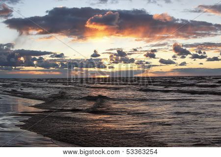 Lake Huron Beach After A Storm