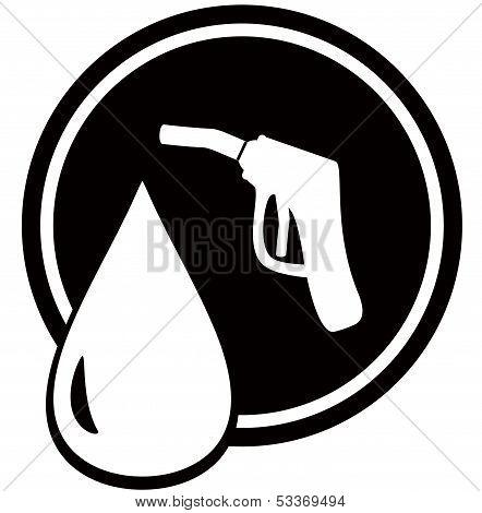 gun for fuel pump - gas station sign