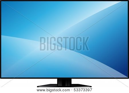 TV with a large blank screen