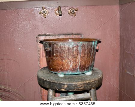 Antique Copper Wash Tub