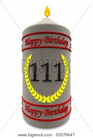 Birthday Candle For 111Th Birthday