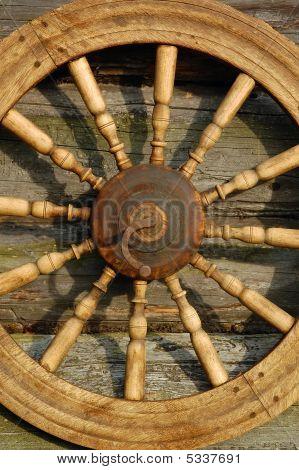 Closeup Hand Spinning Wheel