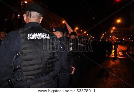 Police and gendarmerie in action
