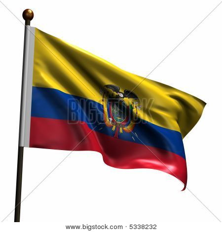 High Resolution Ecuadorian Flag