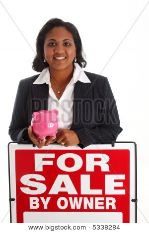 Woman Selling Home