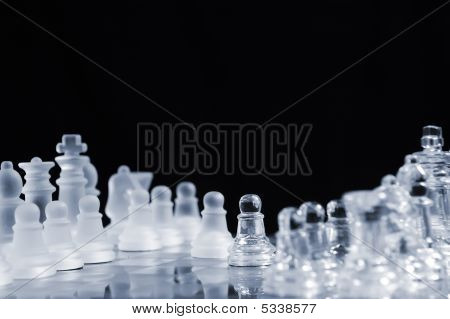 Icy Frosty Glass Chessmen