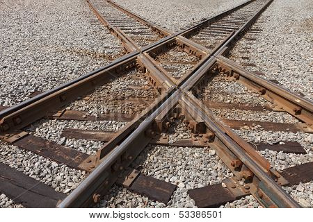 Railroad Tracks Crossing