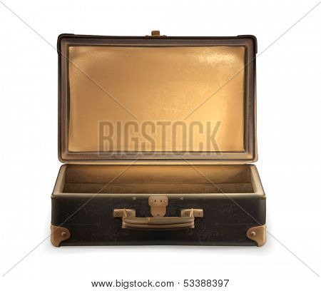 Old suitcase vector