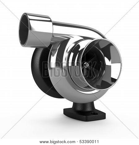 Chrome car turbine. Auto parts