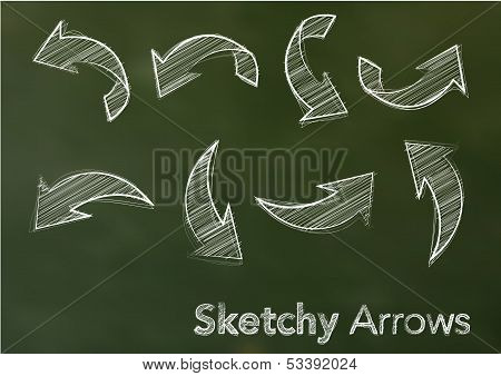 Sketchy vector arrows