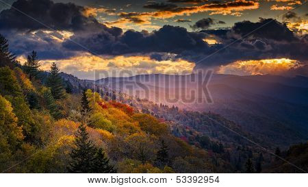Dawn At Oconaluftee Overlook