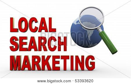 3D Globe, Magnifier And Local Search Marketing