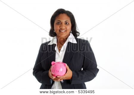 Woman With Bank